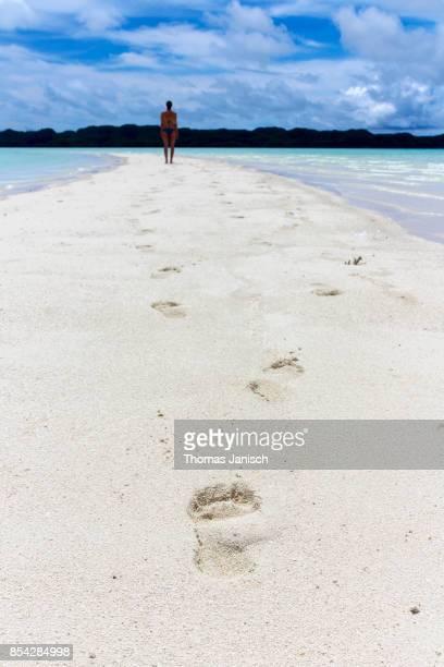 Walking on Long Beach, Palau
