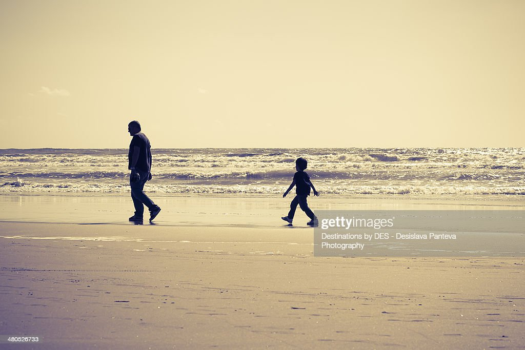 Walking on the seaside : Stock Photo
