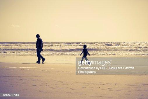 Walking on the seaside : Stock-Foto
