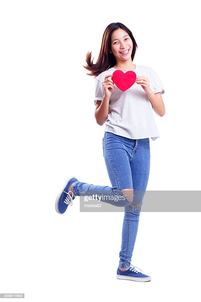Walking On Valentines Day : Stock Photo