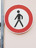Walking Sign On Wall