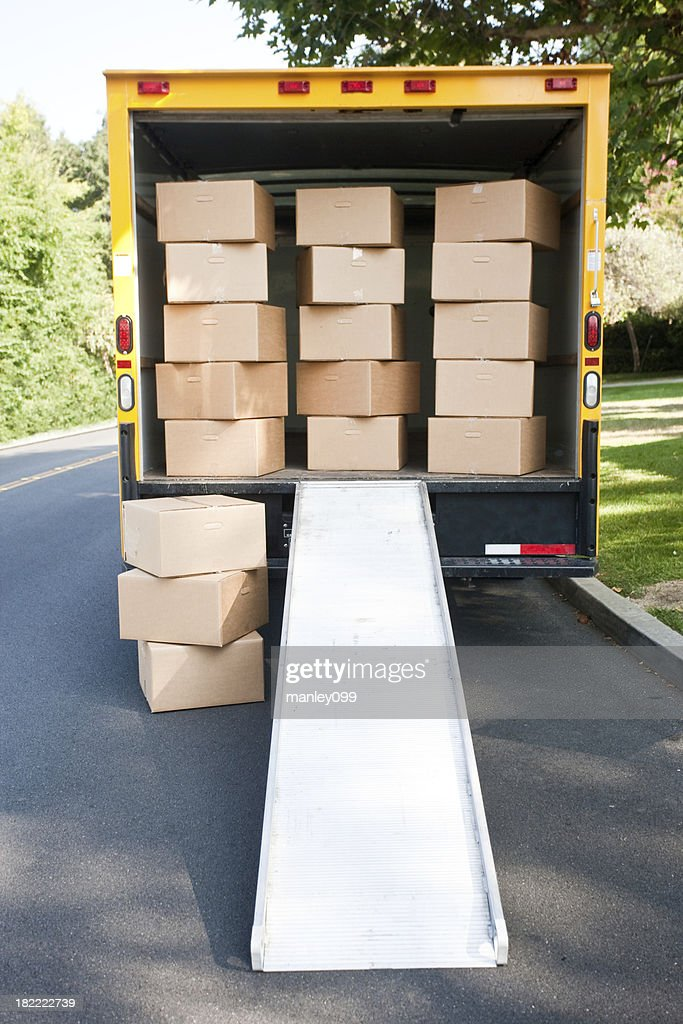 walking straight into moving boxes
