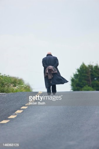 Walking the long road : Stock Photo
