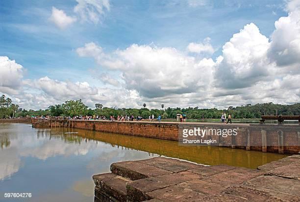 Walking to Angkor Wat