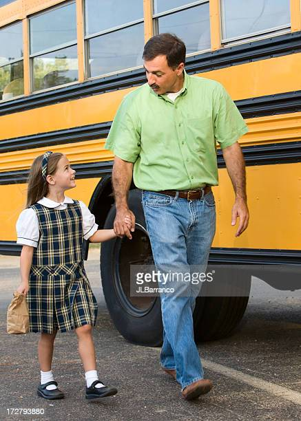 Walking to the Bus with Daddy