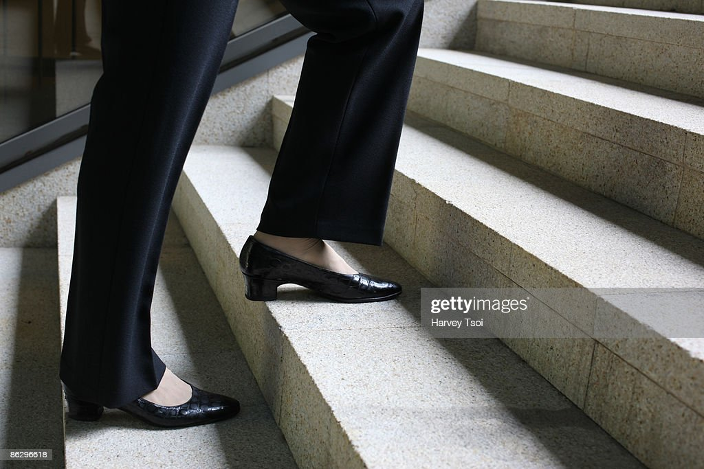 Walking Up Stairs : Stock Photo