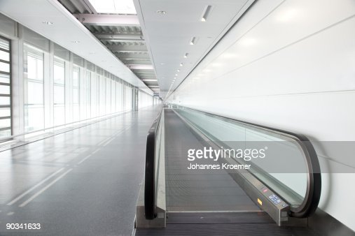 walkway at airport terminal