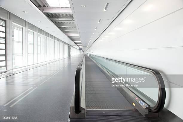 walkway at airport terminal