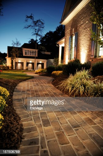 Walkway in front of luxury home