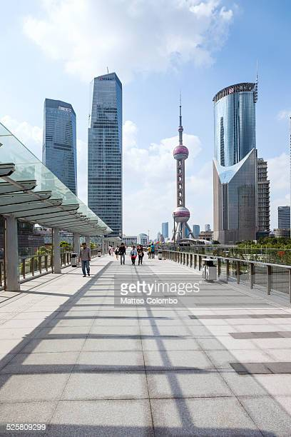 Walkway in the Pudong financial district, Shanghai
