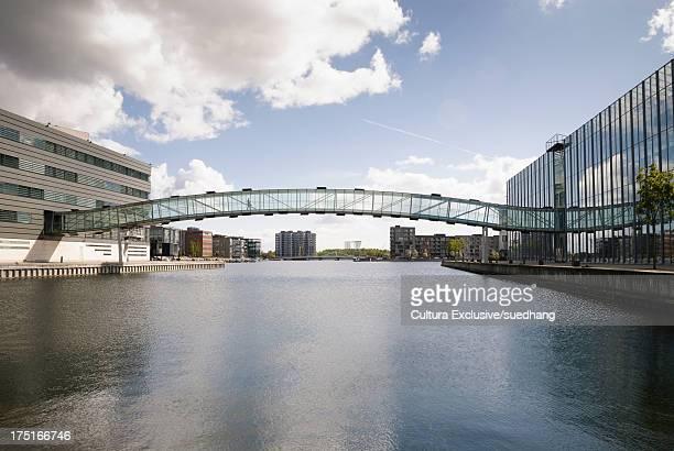 Walkway over water, Copenhagen, Denmark