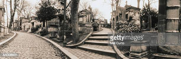 Walkways in Pere Lachaise Cemetery