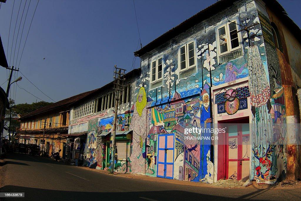 CONTENT] A wall at Kochi Muziris Biennale 2012. Taken at Fort Kochi, Kerala, India.