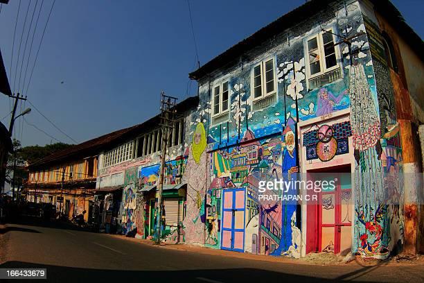 CONTENT] A wall at Kochi Muziris Biennale 2012 Taken at Fort Kochi Kerala India