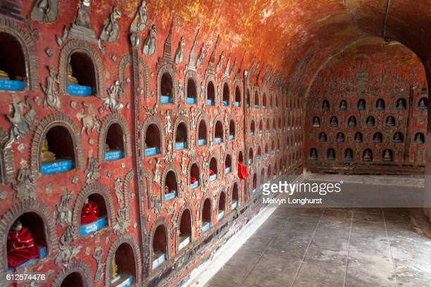 Wall at Shwe Yan Pyay Monastery, also known as Shwe Yaunghwe Monastery, Nyaung Shwe, Shan State, Mya