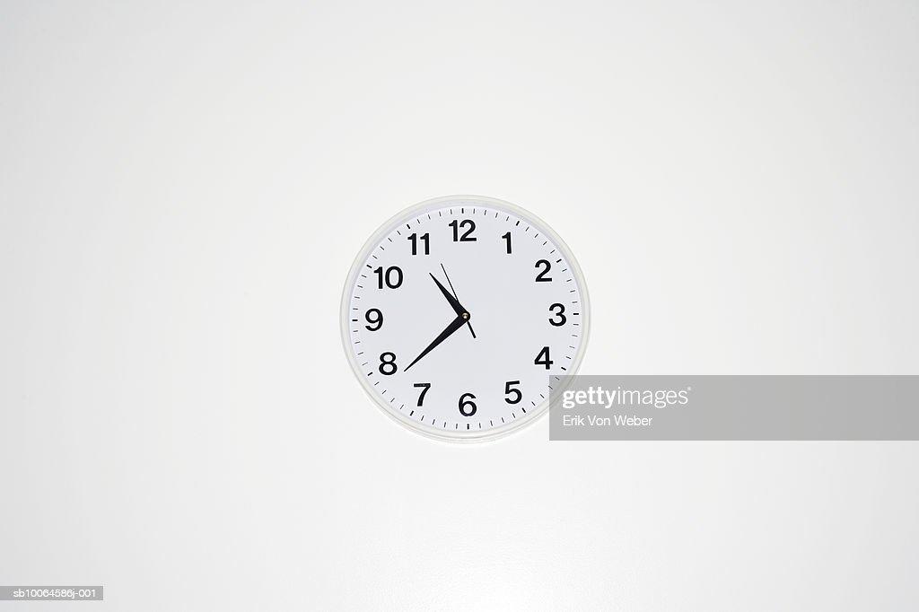 Wall clock, close-up