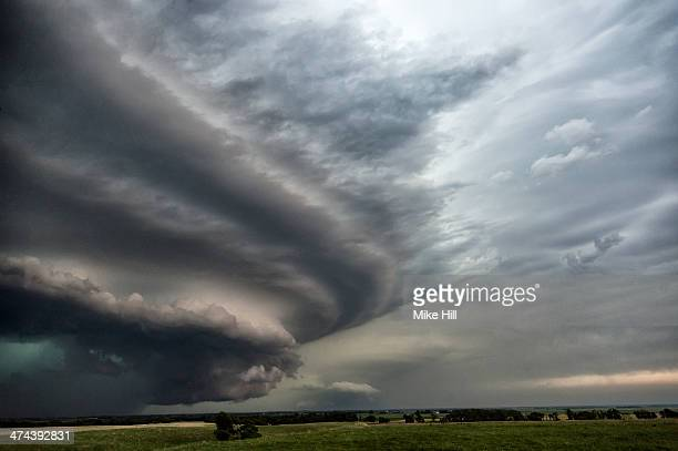 Wall cloud at front of an approaching storm