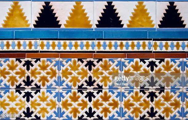 Wall decorative element, ceramic tilework, Murcia, Spain