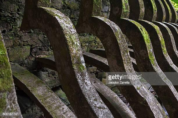 Wall detail in Xilitla sculpture garden