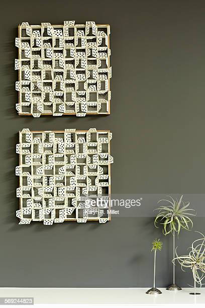 Wall hanging and plants