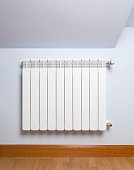 heater on the wall of a room