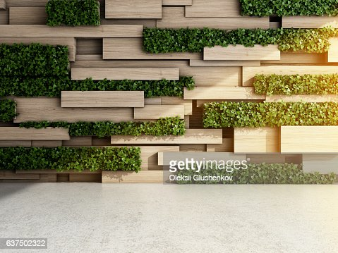 Wall in modern interior : Stock Photo
