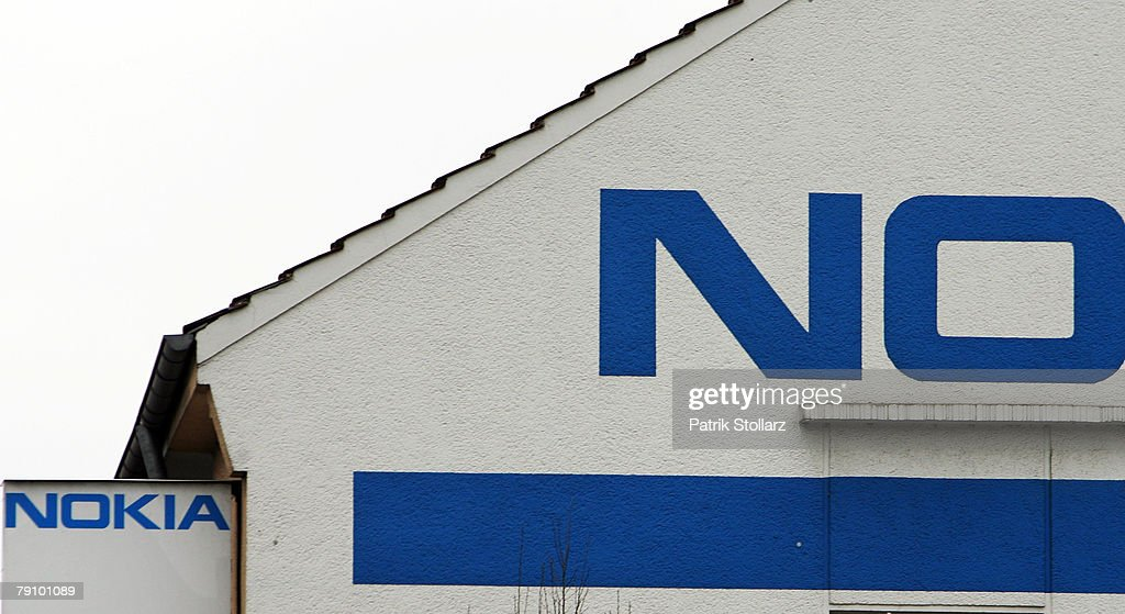 A wall is seen, painted with the logo of Finland's mobile phone manufacturer Nokia on January 18, 2008 in Bochum, Germany. A confederation of German unions warned that the decision by Nokia to close its plant in Bochum threatened the region's economic future.