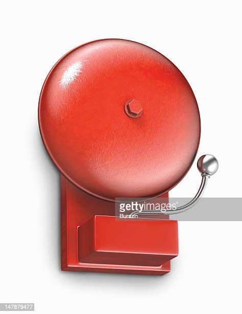 Wall mounted fire alarm bell