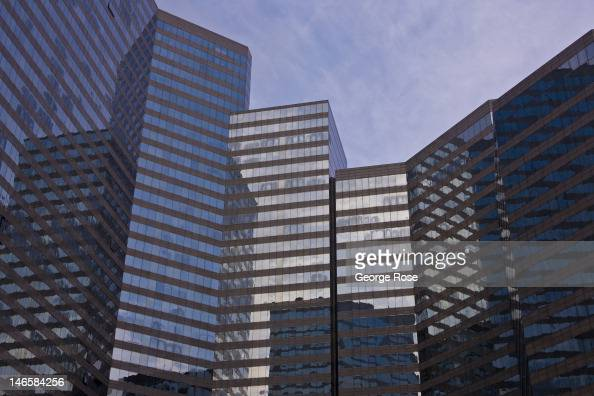 A wall of glass office buldings in the Wan Chai District are viewed on May 31 in Hong Kong China Viewed as one of the world's major trade centers...