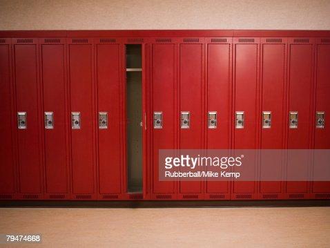 Wall of lockers