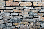 Wall of stones of different sizes background