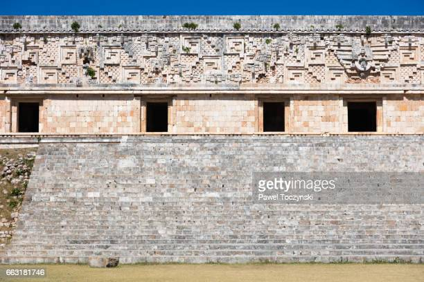 Wall of the Governor's Palace, Uxmal Mayan site, Mexico