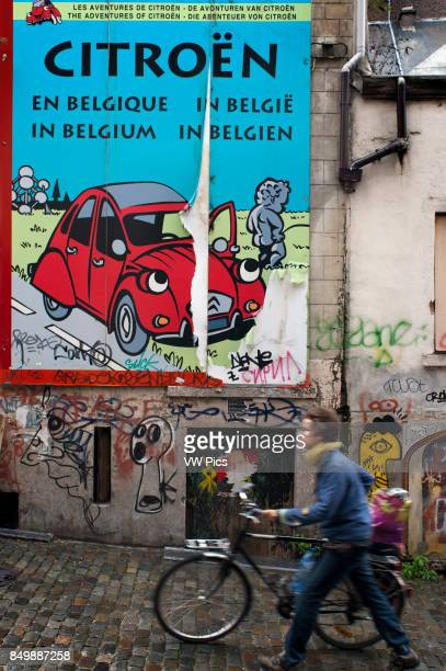 2CV wall paint in the street in the Route BD Brussels Belgium The 'route BD' can be a simple excuse to visit Brussels although some will regard it as...
