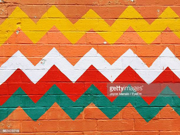 Wall Painted In Chevron Pattern