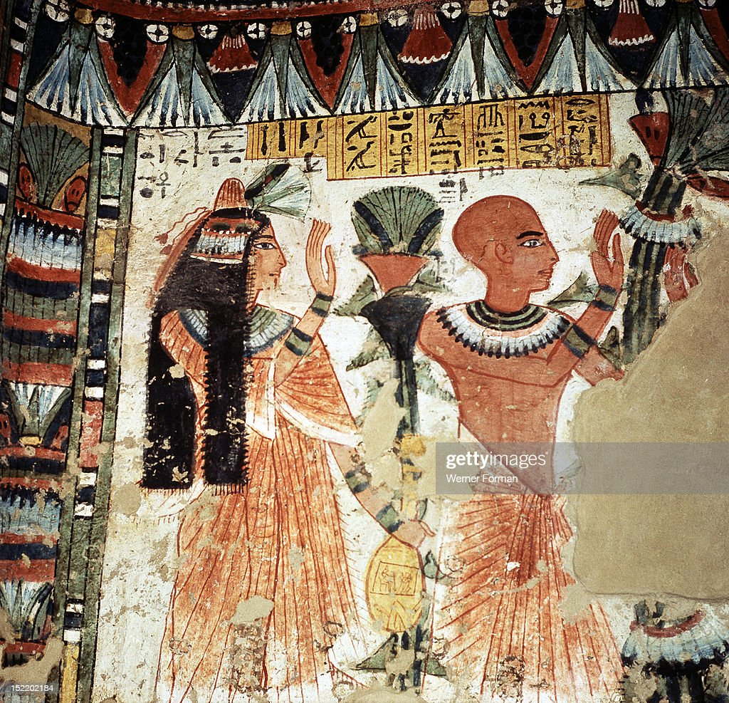 Wall Painting From The Tomb 278 Of Amenemhab Pictures | Getty Images