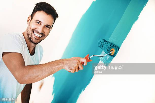 Wall painting is fun.