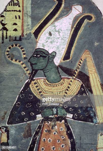 Wall painting of Osiris KhentiAmentiu from a tomb at Thebes From the British Museum's collection