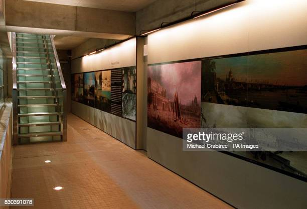 A wall providing a visual history of Somerset House which opens to the public on 26/05/00 The architects involved in the renovation were Donald...