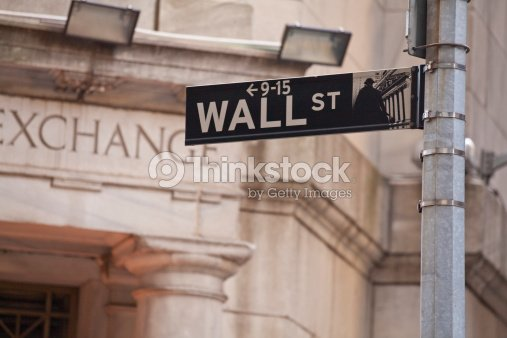 Wall Street in New York City : Stock Photo