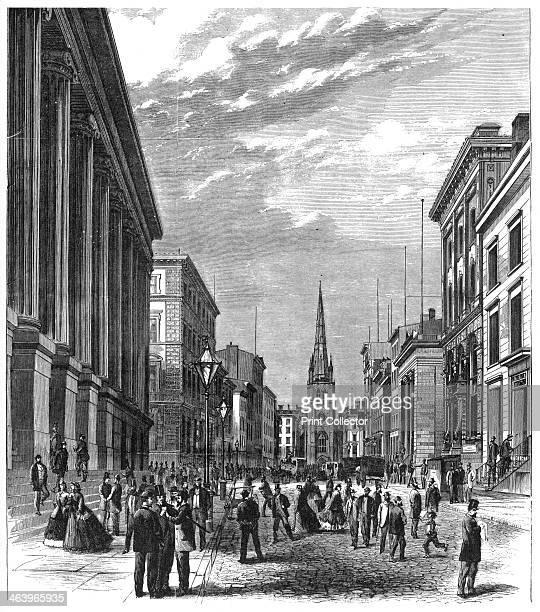 'Wall Street New York' 1869 Wall Street markets crash on Black Friday 1869 Illustration from Adventures of America 18571900 by John A Kouwenhoven...