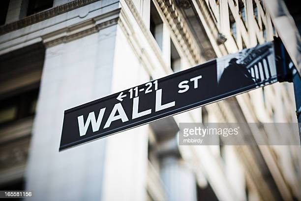 Wall Street sign, New York City, USA