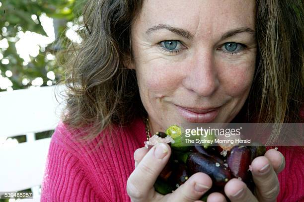 Wall Street veteran Georgie MacDougall turned to growing finger limes on a property overlooking Byron Bay 4 August 2004 SMH Picture by NATALIE BOOG