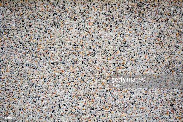 Wall texture - exposed aggregate finish