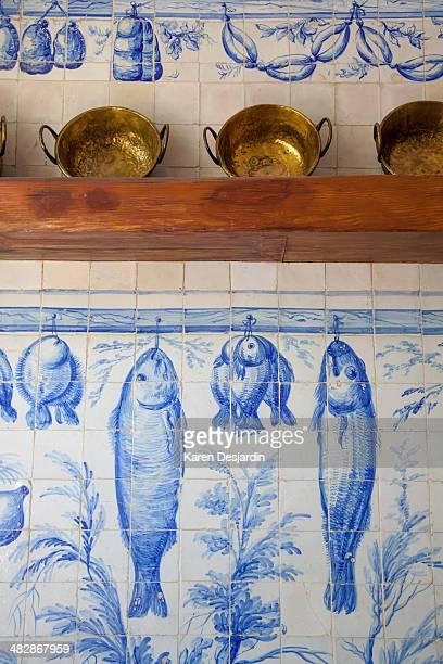 Wall tiles with a food theme, Lisbon