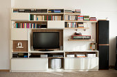 TV wall unit bookshelf