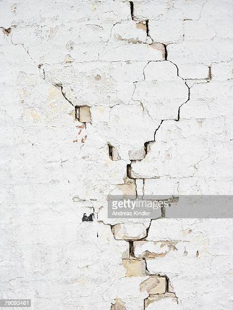 Wall with cracks.
