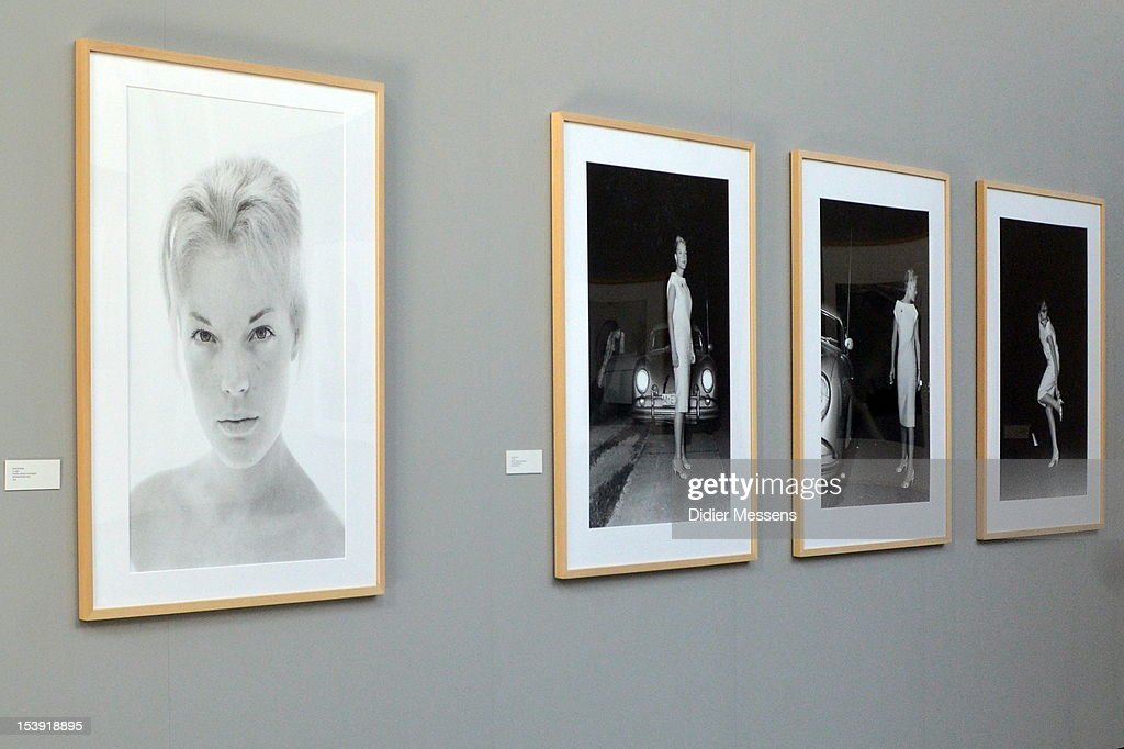 A wall with pictures of Romy Schneider is shown as part of The Romy Schneider Exhibition at Caermersklooster on October 11, 2012 in Ghent, Belgium.