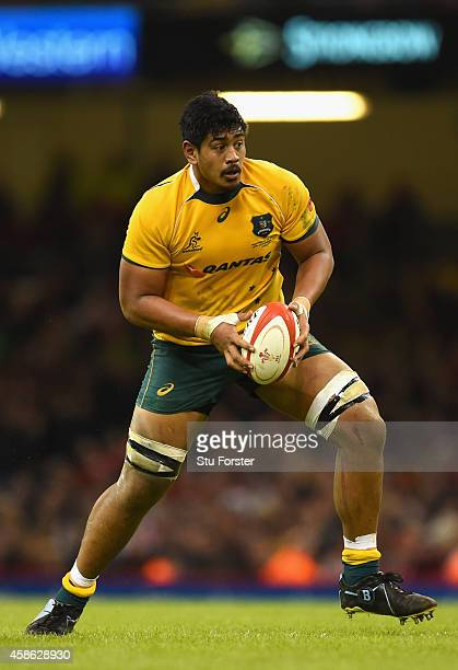 Wallabies player Will Skelton in action during the Autumn international match between Wales and Australia at Millennium Stadium on November 8 2014 in...