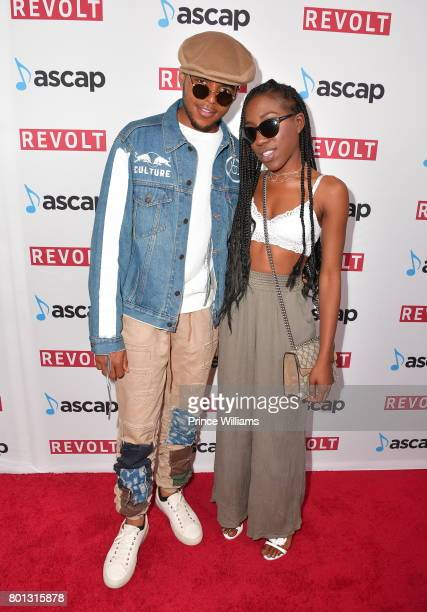 J Wallace and T'yanna Wallace attend ASCAP 2017 Rhythm Soul Music awards at the Beverly Wilshire Four Seasons Hotel on June 22 2017 in Beverly Hills...