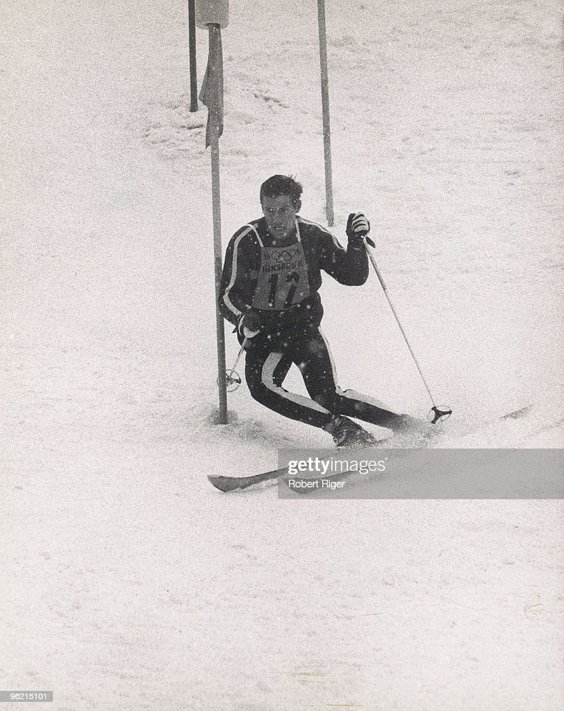 Wallace 'Buddy' Werner of the United States skis in the Men's Slalom during the 1964 Winter Olympics on February 7, 1964 in Innsbruck, Austria.